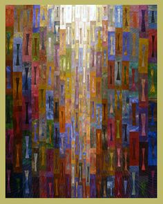 """Janet Steadman """"It's About Time""""  ©2002 - 52"""" x 67"""" 2004, Best of Show, Association of Pacific Northwest Quilters"""