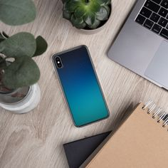 Cosmic iPhone Case (Blue and Light Blue) - iPhone XS Max