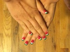 Watermelon DIY Nail Art Tutorial! #ManiMonday