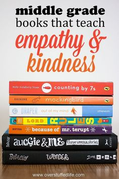 for books that emphasize the importance of kindness and empathy? 7 middle grade books about empathy that kids will love!Looking for books that emphasize the importance of kindness and empathy? 7 middle grade books about empathy that kids will love! Kids Reading, Teaching Reading, Teaching Kids, Reading Books, Reading Lists, Reading Time, Teaching Tools, Middle School Books, Middle School Counseling