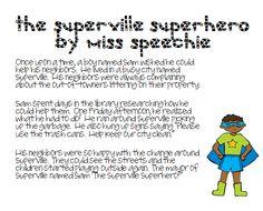 Speech Time Fun: Superhero Story Recall & Comprehension
