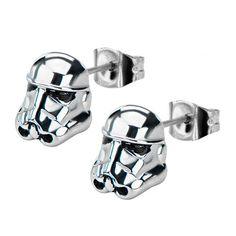 Star Wars Storm Trooper 3-D Stud Earrings $24.99