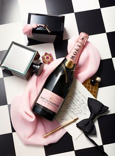 Will You Be My Bridesmaid Maid of Honor Gift (Personalized Moet & Chandon - Rose label )