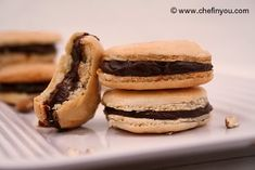 French Macaroons With Chocolate Filling Not too bad and good vegetarian website