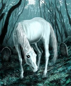Helhest- Danish and Norse myth: a three legged horse associated with disease and death. Lots of phrases and superstitions are attached to it. In Norse mythology, the goddess Hel rode it into battle.