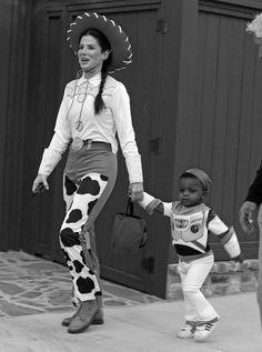 Sandra Bullock and her son Louie!