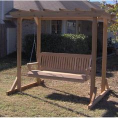 Looking for Donath Pergola Style Arbor Porch Swing Stand August Grove ? Check out our picks for the Donath Pergola Style Arbor Porch Swing Stand August Grove from the popular stores - all in one. Diy Pergola, Cedar Pergola, Building A Pergola, Building Plans, Pergola Ideas, Pergola Carport, Outdoor Pergola, Landscaping Ideas, Arbor Swing