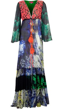 Printed maxi dress available only at Pernia's Pop-Up Shop By Hemant & Nandita
