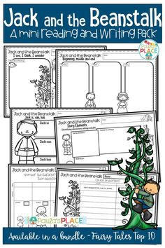 Jack and the Beanstalk Mini Reading and Writing Activities Reading Comprehension Strategies, Writing Strategies, Writing Resources, Teaching Writing, Writing Prompts, Daily 5 Activities, Guided Reading Activities, Writing Activities, Writing Genres