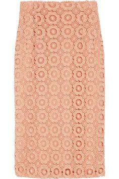 Dolce & Gabbana Macramé lace pencil skirt NET-A-PORTER.COM