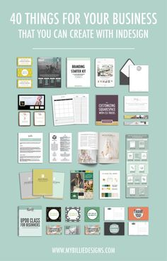 Designs Discover 40 Things You Can Create For Your Business With InDesign My Billie Designs 40 things you can create for your business with Adobe InDesign Web Design, Graphic Design Tutorials, Tool Design, Graphic Design Inspiration, Vector Design, Design Basics, Business Inspiration, Layout Inspiration, Lightroom
