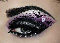 DIY Halloween Makeup : Eyes and eye make up Goth Makeup, Eye Makeup Art, Makeup Tips, Makeup Ideas, Eye Art, Makeup Eyeshadow, Purple Eyeshadow, Beauty Makeup, Doll Eye Makeup