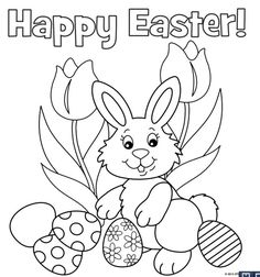 The Kids Will Love These Free, Printable Easter Bunny Coloring Pages: Free Easter Bunny Coloring Pages at Free-N-Fun Easter