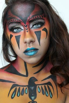 Indian Face Paint Meanings American indian, paint, | Kids craft ...