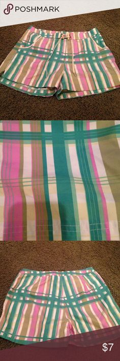 Nina Capri - blue/green/white/pink swim shorts Good condition, very cute! 😊🏊🏄 Nina Capri Swim Coverups