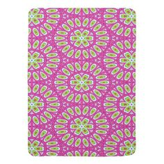 """#Baby Blanket - """"Hot Pink, Lime Green and White"""" by celeste@khoncepts.com"""