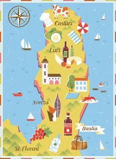 Tatiana Boyko | Map of Northern Corsica