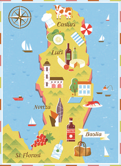 Tatiana Boyko | Map of Northern Corsica