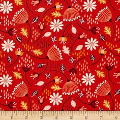 Camelot Enchanted Seed Pods Red-Orange from @fabricdotcom From Camelot Cottons, this cotton print is perfect for quilting, apparel and home decor accents. Colors include red-orange, white, mustard and wine.