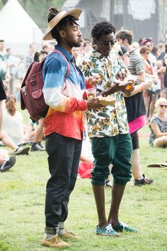 The 58 Most Insane Street Style Looks From Pitchfork Music Festival -Cosmopolita Pitchfork Music Festival, Music Festival Fashion, Fashion Music, Music Festival Outfits, Music Festivals, Fashion Games, Festival Looks, Festival Style, Festival Guide