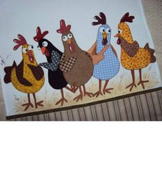 Great chickens for quilting