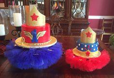 Customer Photo: Wonderwoman inspired Cake stand tutu and smash cake stand tutu by Tutu Amaezing Boutique  Get them here: https://www.etsy.com/listing/189382222/cake-stand-tutu-tutu-cake-stand-two?ref=shop_home_feat_3  https://www.etsy.com/listing/240469234/smash-cake-cake-stand-tutu?ref=shop_home_active_5