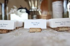 Place cards and Place Card Table | Weddingbee DIY Projects