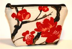 Asian Blossoms Floral Zippered Flat-bottom by nangatesdesigns