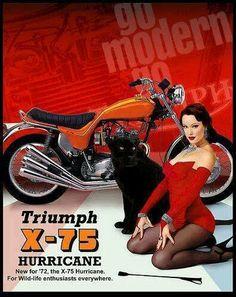 Triumph X-75 Hurricane Motorcycle Ad