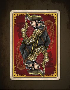 Bicycle_Steampunk_Pirates_Playing_Cards_back