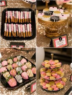 Glitz and glam are front and center in this gorgeous Kate Spade Themed Birthday Party! Paris Birthday, 13th Birthday Parties, Birthday Desserts, Sweet 16 Birthday, Gold Birthday, Spa Birthday, 40th Birthday Themes, 30th Birthday Ideas For Women, 30th Birthday Decorations