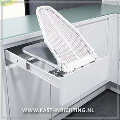 Strijkplank om in te bouwen in een kast of lade.-kast-inrichting.nl €169