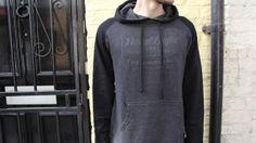 REBEL8 Hops Raglan pullover hood top Grey/Black