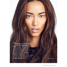 Anais Mali Wears the Bare Makeup Look for Glamour UK by Max Abadian ❤ liked on Polyvore featuring models