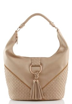 Ignite your look with a trendy touch in this oversized hobo bag, featuring a…