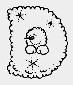 Kreatív gyűjteményem: Betűk - hóemberes (színező)