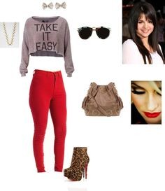 """Red"" by graycen on Polyvore"