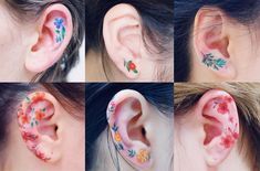 Ear tattoos💗 – Nov booking closed – Tattoo World Mini Tattoos, Flower Tattoos, Body Art Tattoos, Small Tattoos, Ear Tattoos, Crow Tattoos, Phoenix Tattoos, Tattos, Black Stud Earrings