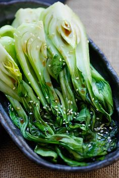 Roasted Bok Choy - easiest vegetable recipe that takes only 10 mins. Healthy and delicious with a soy-sesame dressing, great for dinner.