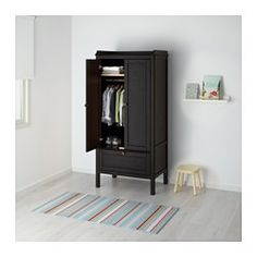 Keeping a clutter-free home can be easy with IKEA's innovative and durable kid's storage furniture and cube storage solutions that's great for every age. Kids Storage Furniture, Nursery Furniture, Cube Storage, Tall Cabinet Storage, Locker Storage, Ikea Sundvik, Armoire Ikea, Childrens Wardrobes, Pine Shelves