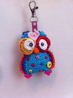Happy cheerful crochet owl for a happy cheerful kindergarten teacher