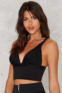 Nasty Gal Miranda Mesh Bustier - Clothes | Party Shop | Bustiers + Bodysuits