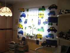 Boy's room: Marimekko Bo Boo fabric in a Finnish home. #finland #marimekko #home