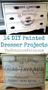 14 DIY Painted Dresser Projects – The Graphics Fairy – Diy Diy Home Decor Rustic, Diy Home Decor Projects, Furniture Projects, Vintage Home Decor, Furniture Makeover, Diy Furniture, Office Furniture, Vintage Homes, Furniture Websites