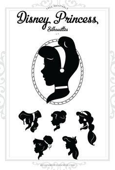 Disney Princess Silhouettes v.1 – Designs By Miss Mandee