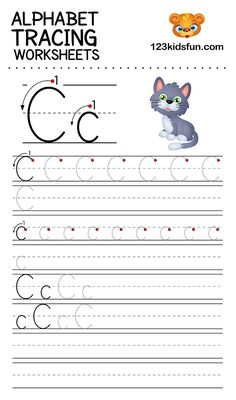 Alphabet Tracing Worksheets A-Z free Printable for Preschooler and Kindergartener. This Alphabet Tracing is a great activity for kids to practice letter recognition and handwriting skills. Printable letter C tracing worksheet. Free Printable Alphabet Worksheets, Letter Worksheets For Preschool, Kindergarten Worksheets, Preschool Alphabet, Alphabet Crafts, Letter I Worksheet, Abc Worksheets, Alphabet Writing Practice, Handwriting Practice
