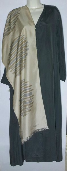 Eileen Fisher New York Moss Green 100 % Silk Picque Dress Size Medium/Large  #EileenFisherNewYork #FloatingSheath SOLD