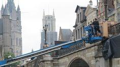 Sint-Michielsbrug wordt 500 jaar verouderd voor opnames Empe... (Gent) - Het Nieuwsblad