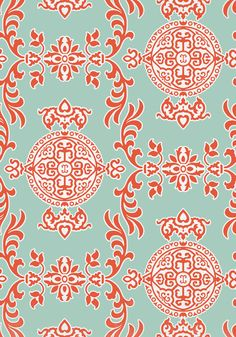 Buy Halie Aqua and Coral, a feature wallpaper from Thibaut, featured in the Enchantment collection from Fashion Wallpaper. Coral Wallpaper, View Wallpaper, Feature Wallpaper, Wallpaper Direct, Painting Wallpaper, Fabric Wallpaper, Bathroom Wallpaper, Print Wallpaper, Construction Wallpaper