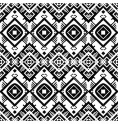 Black and white geometric seamless pattern vector by Oksancia on VectorStock®